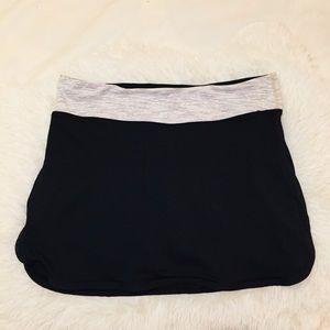 Lululemon Black Skort With White Contrast Size 12